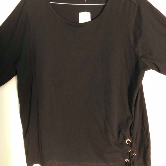 MICHAEL Michael Kors Tops - NWT Michael Kors Red Side Lace Blouse